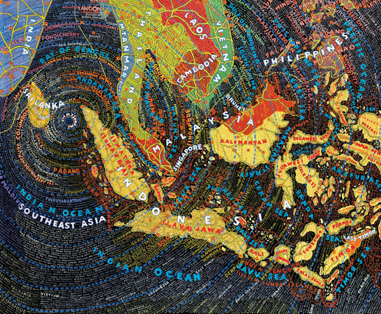 paula scher  selected work  the map series