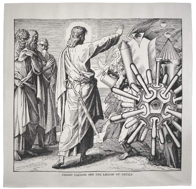 CHRIST CASTING OUT THE LEGION OF DEVILS, 1987, 2003 Tapestry 104.5 x 115 in. Edition of 6