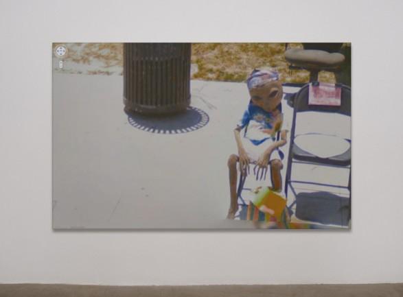 Jon Rafman's Google Street View installation in gallery setting.