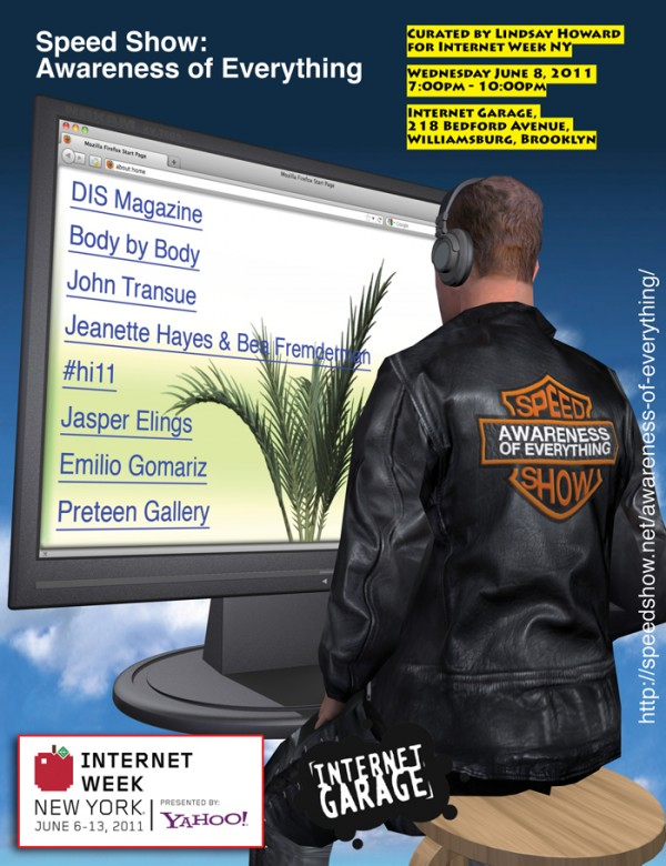 Flyer: Speed Show: Awareness of Everything at the Internet Garage