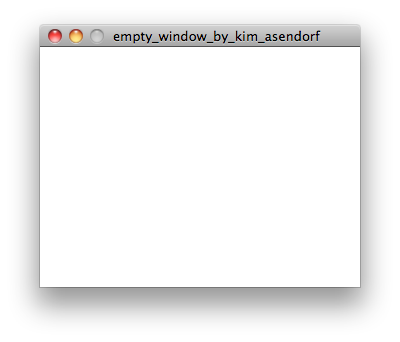 Empty Window (2011) by Kim Asendorf