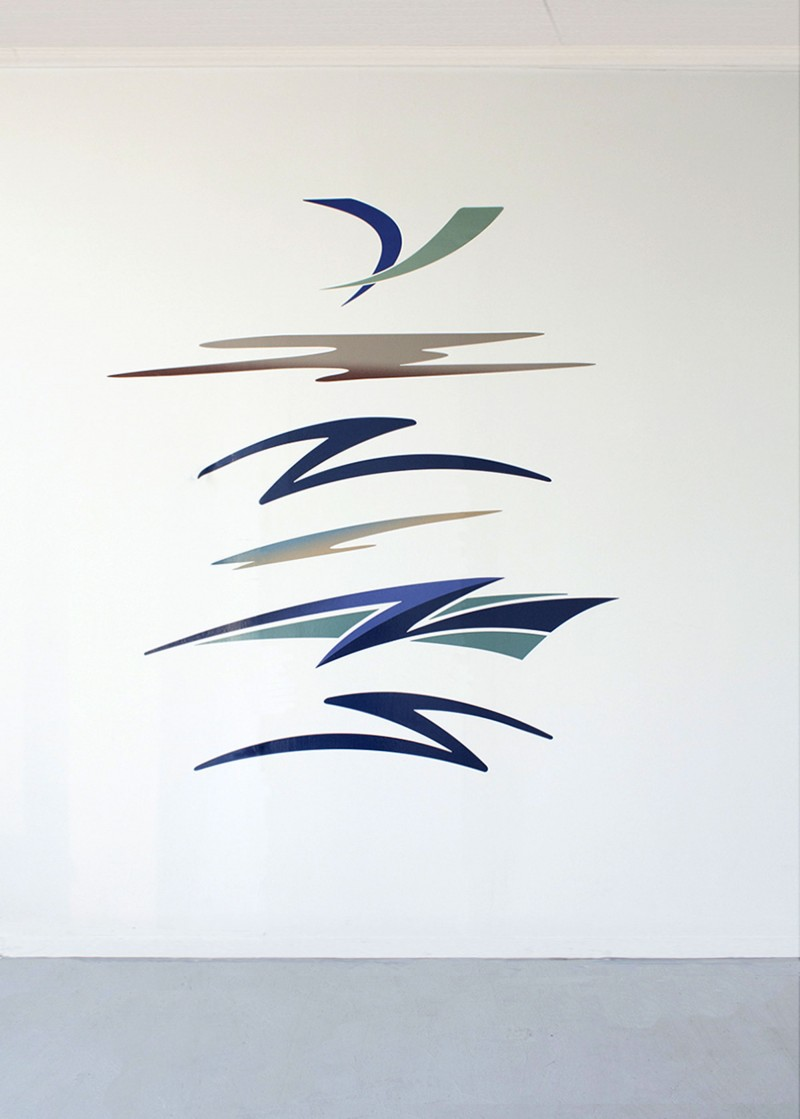 """Swoosh Composition"" by Michael Bell-Smith"