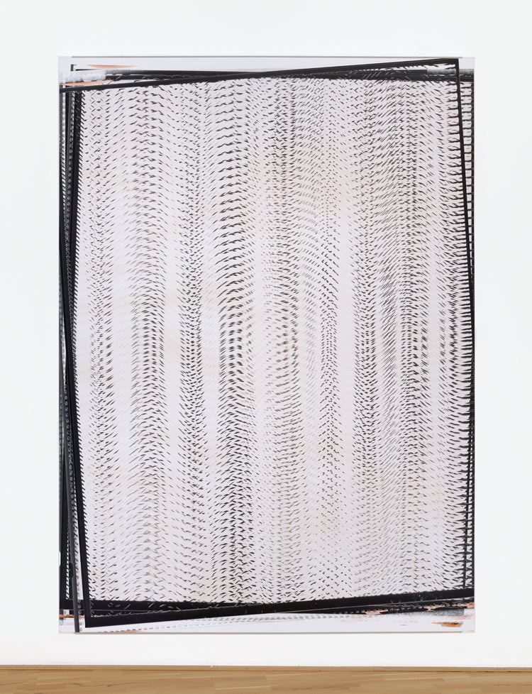 Travess Smalley – Vector Weave, Action 6 - CG_ColorPhotocopy_Print 29, 2014, uv print on stretched vinyl, 96 x 70 inches