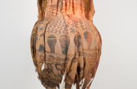 Clement Valla : Wrapped terracotta neck amphora storage jar