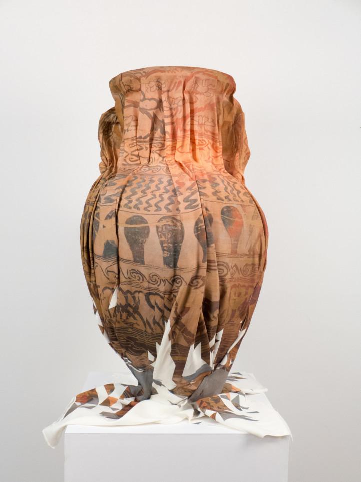 Clement Valla : Wrapped terracotta neck amphora storage jar