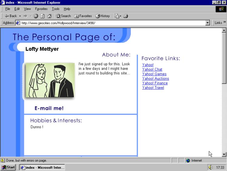Yahoo Page Builder