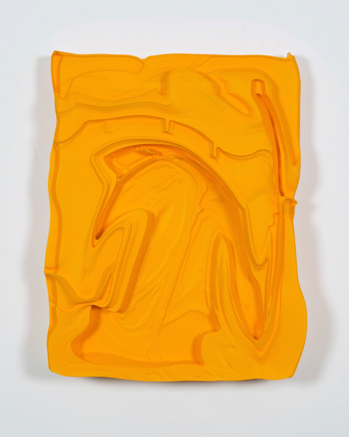 OBJ_393 by Michael Staniak. Polyurethane resin and acrylic, 25 × 20 × 4 in
