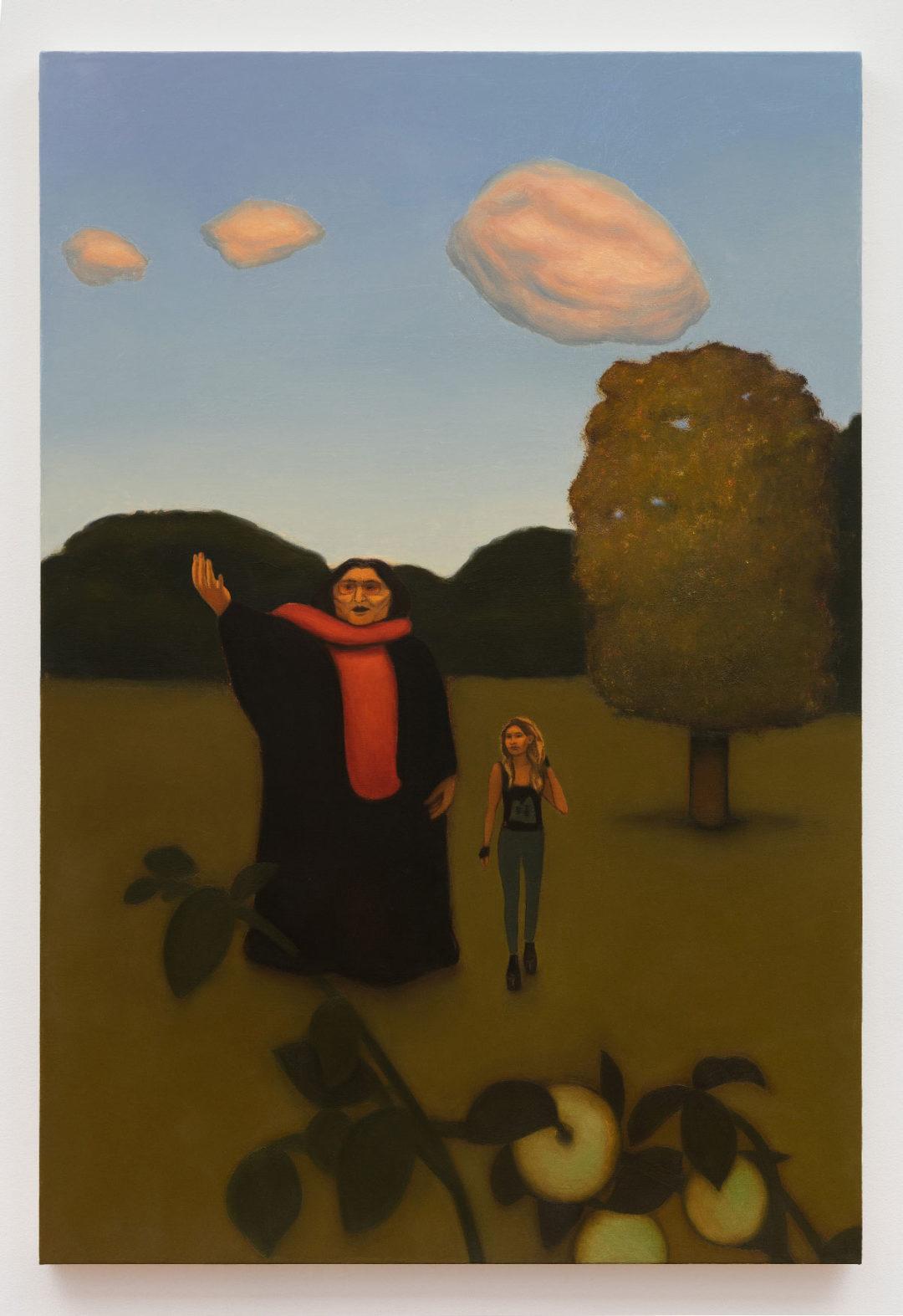 Anna Glantz  The Music Lesson (Mercedes Sosa)  2019  Oil on canvas  50 x 34 inches  127 x 86.4 cm