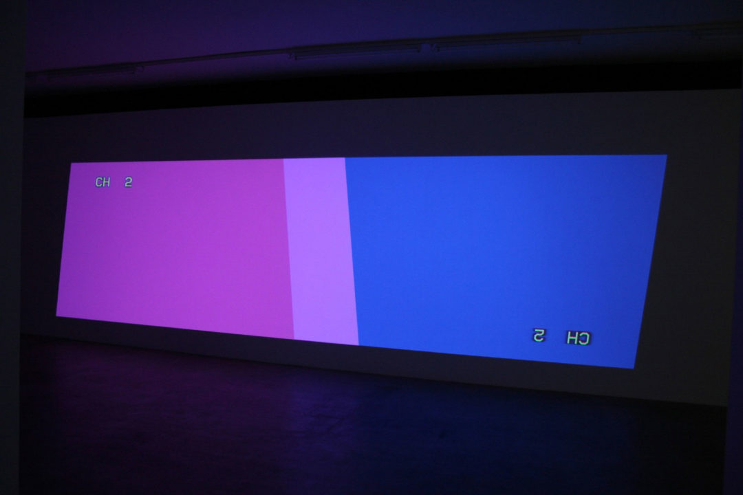 Two Key-stoned Projectors (one upside down version 2) by Cory Arcangel