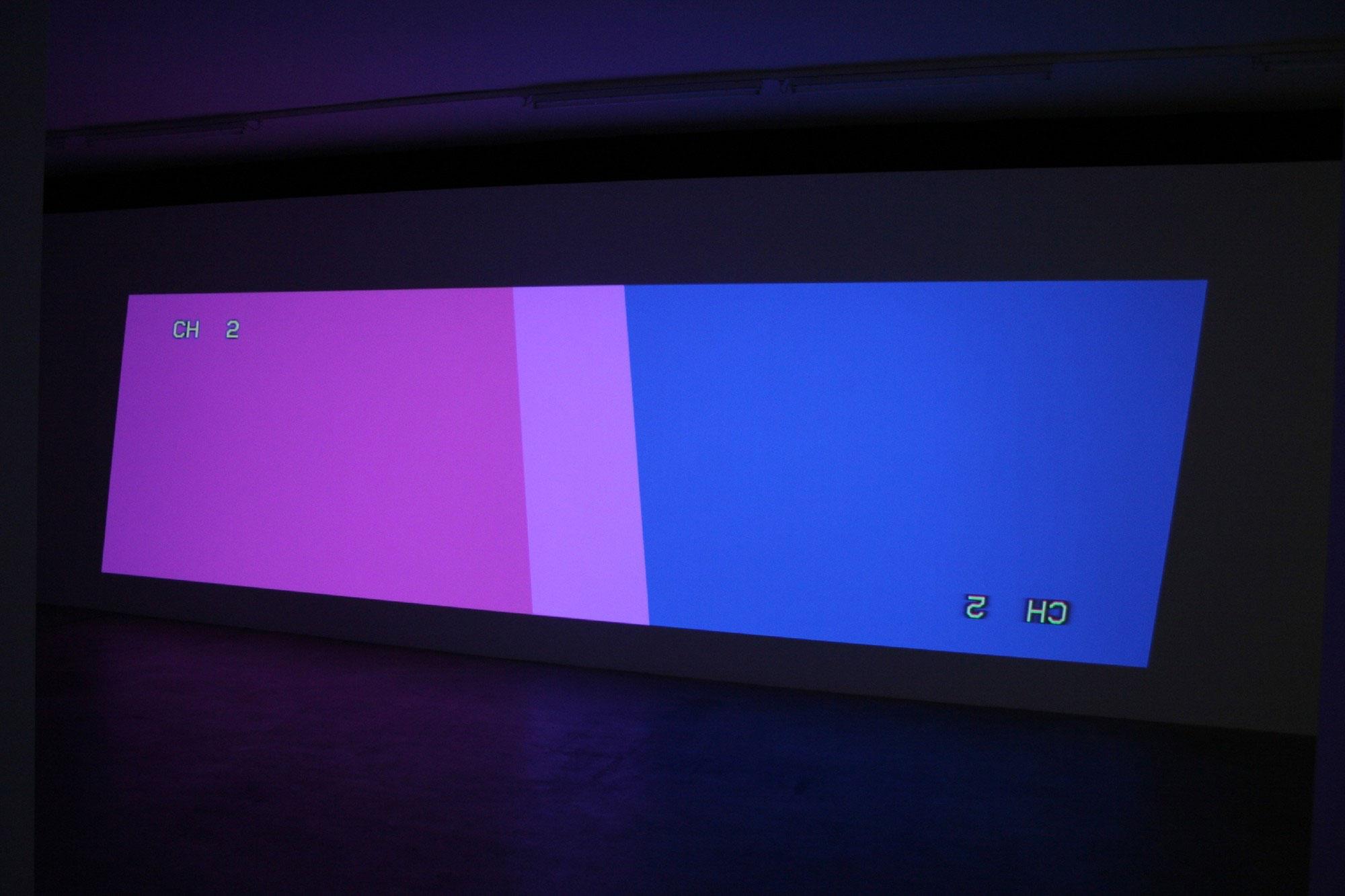 Cory Arcangel: Two Key-stoned Projectors (one upside down version 2)
